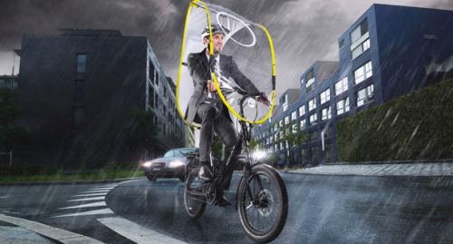 雨の日でも楽々自転車通勤